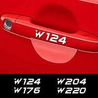 TAYDMEO 4ピース車のステッカードアハンドルデカール、メルセデスベンツW205 W212 W204 W203 W210 W213 W220 W221 W124 W168 W169 W176