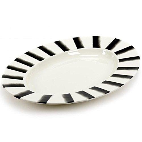 Plat ovale pour pasta XL lines - 57 x 40.5 cm