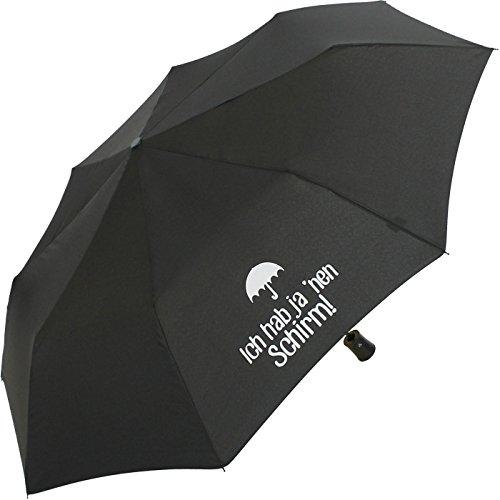 Mini Taschenschirm stabil Auf-Automatik Bedruckt Ich hab ja NEN Schirm