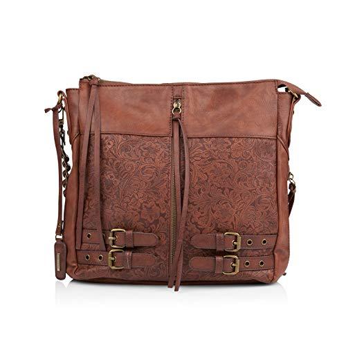 Remonte Damen Handtaschen Q0430, Frauen Umhängetaschen, schultertasche accessoire modisch jung qualitativ cool leger,schoko,One size/Einheitsgröße