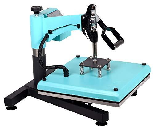 RICOO Transferpresse T538B-TB [38x38cm] T-Shirtpresse Heat Press Thermopresse Textilpresse für Transfer-Folie Transfer-Papier || Türkisblau || - 2