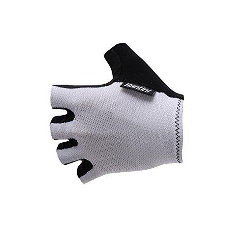 Santini Herren Brisk Short Finger Handschuhe, weiß, Large