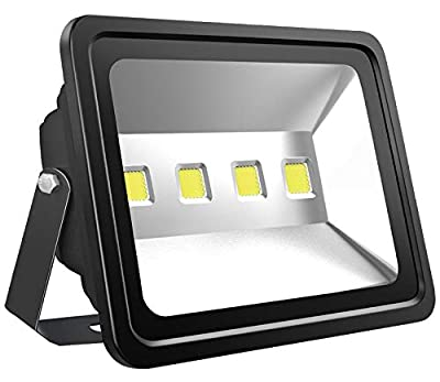 Atoechie Black 200W Outdoor LED Flood Light Daylight White 6000K, 20000 Lumens, 50,000 Hours Lifetime, Waterproof IP65, Security Light Fixtures for Backyards Sport Courts Parking Lots