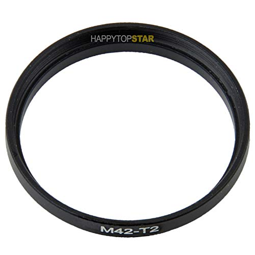 Metal M42 42mm 1mm Thread Pitch to T2 42mm 0.75mm Male to Female 42mm to 42mm Coupling Ring Adapter for Lens Filter