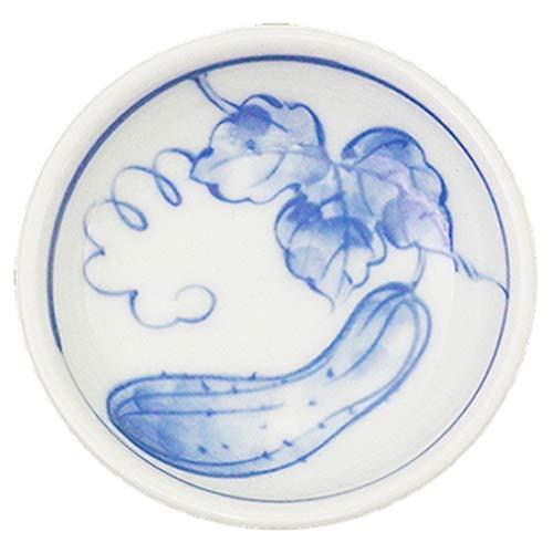 きゅうり丸小皿 [ 9 x 2.5cm ] 【 小皿】 【 料亭 旅館 和食器 飲食店 業務用 】