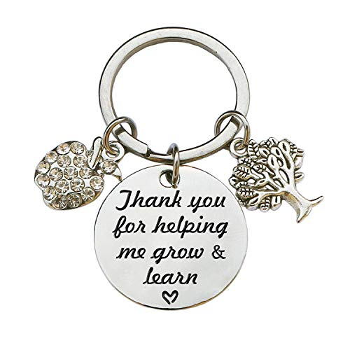 Teacher Appreciation Keychain Gifts for Women, Teacher Keychain Teacher Jewelry Gifts, Christmas Graduation Gifts for Teachers (Style B)