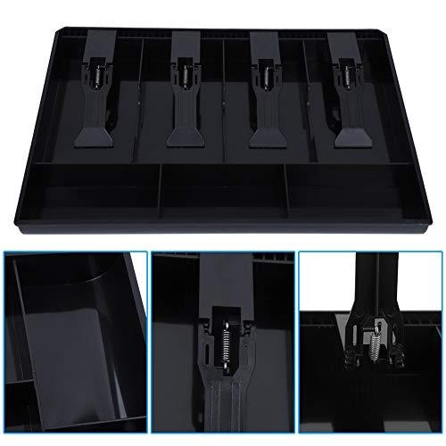Bandeja de inserción de caja registradora, resistente caja registradora de cajón, bandeja de inserción de plástico
