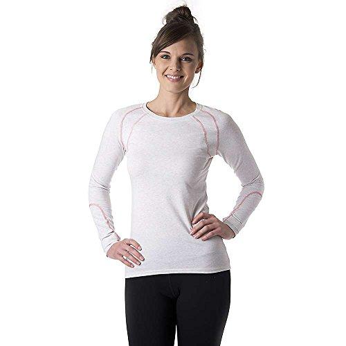 tasc Performance Damen Aspire Fitness Yoga Long Sleeve Tee Shirt Performance, Damen, Ash Heather, Medium