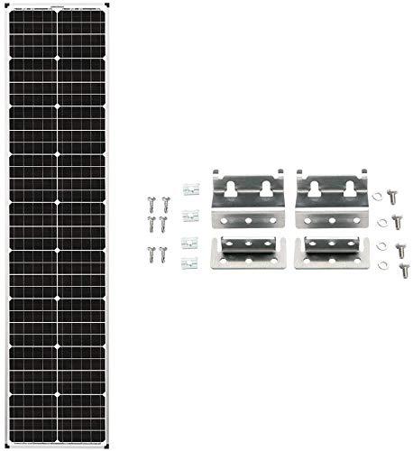 Zamp 90 Watt Long Solar Panel B Stock Airstream Trailer Camper Van Roof Mounted Module Made in USA (Panel and Airstream Mounting Hardware)