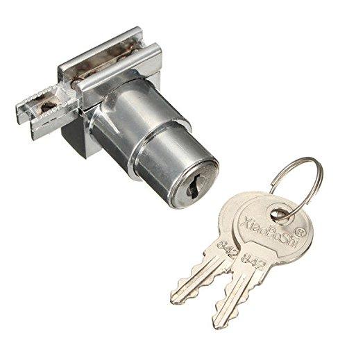 Calli Chrom Zink Legierung Vitrine Vitrine Scharnier Glasschrank Türschloss mit 2 Schlüssel