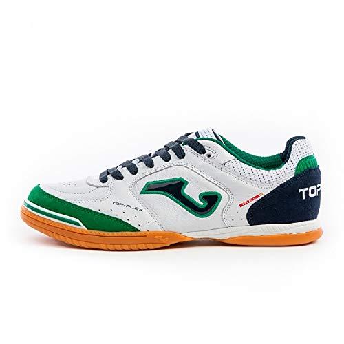 Joma - Zapatilla Futbol Sala Top Flex 932 Blanco-Verde Hombre Color: Blanco Talla: 40.5 EU