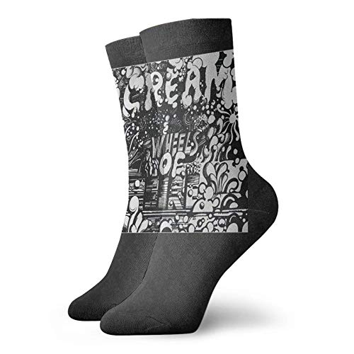 Yuanmeiju chaussettes en tricot Cream Wheels Of Fire Unisex Dress Funny Crazy Winter Warm Crew Socks
