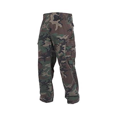 Rothco Vintage R/S Vietnam Fatigue Pants, Woodland Camo, Medium