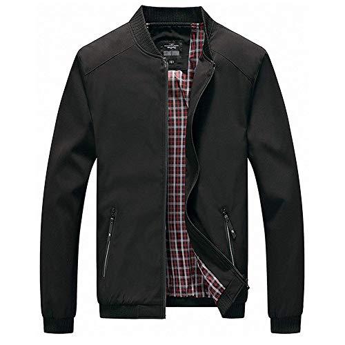 Men's Active Zipper Long Sleeve Bomber Jacket Big and Tall Black