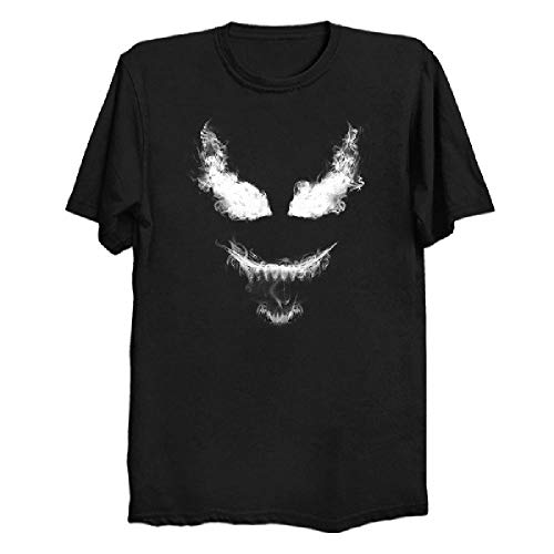 Camiseta Extragrande de algodón con Estampado de cómic Smoke Venom de Manga Corta