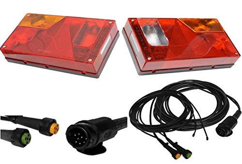 FKAnhängerteile 1 x Aspöck Multipoint 1 Leuchten Set 13polig - 7m mit Abgang 2 x 4,7 m DC