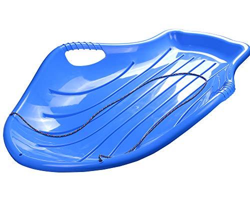 Ondis24 Schlitten Big Blau für Kinder Rodel mit Rennrodel Bob mit Zugseil für Kinder ab 3 Jahre (Blau)