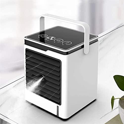 XINGDONG Espacio personal Refrigerador de aire Air Acondicionador de aire, aire de refrigeración móvil Mini Portátil Mini refrigerador de aire Evaporativo Ventilador de niebla Aire acondicionado 3 Vel