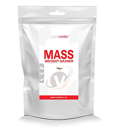 Vitamize Whey Protein Powder Weight Gainer High Calorie Mass Muscle Weight Gain 1 kg Strawberry Packaging may vary