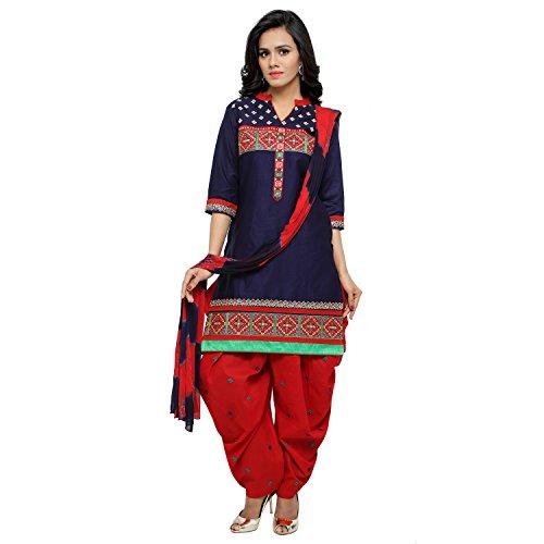 Soru Fashion Women's Cotton Embroidered Salwar Suit Dupatt