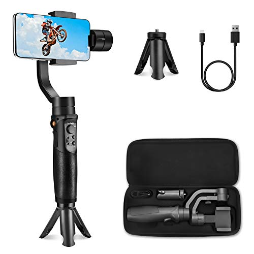 Hohem iSteady Mobile Plus Smartphone Gimbal,Smartphone Stabilizer for iPhone 11/11 Pro/Pro Max/XS/XS MAX/XR/8,Smartphone Gimble for Galaxy S10/Plus/S9 for Video Blogger,Youtuber(2019 New Model)