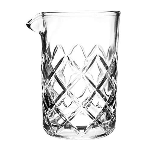 Tebery 15oz Cocktail Mixing Glass Clear - Diamond Cut Pattern