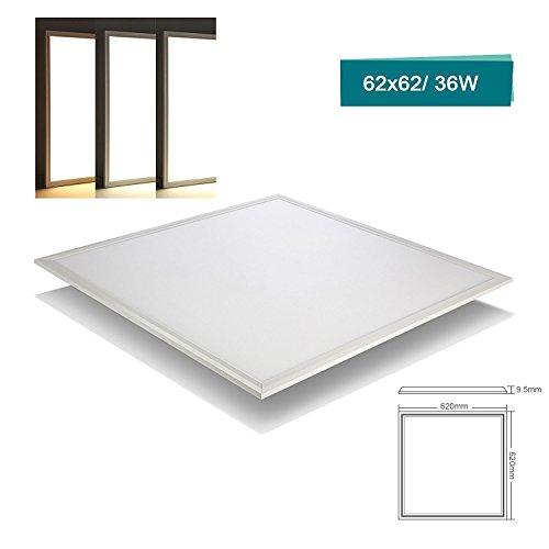 [PRO High Lumen]OUBO LED Panel 62x62 Deckenleuchte Neutralweiß 4000K, 36W, Bürolampe für Odenwalddecke, Rasterleuchten, Einlegeleuchte, Sillerrahmen