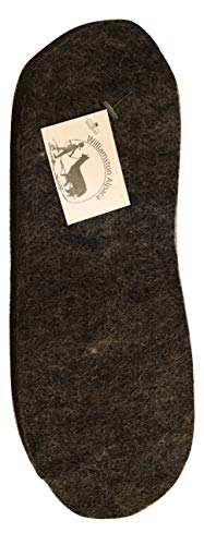Alpaca Wool Felted Insole Boot Liner Warm Cut to Fit (Medium)
