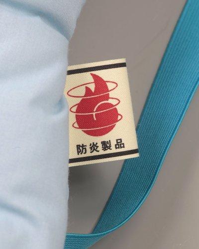防炎協会認定カネカロン防災クッション(M)ジュニア用28x42cmイエロー
