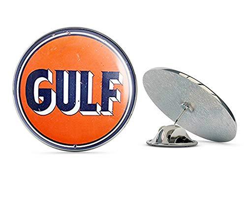 NYC Jewelers Vintage Round Gulf Gas Logo (Motor Oil car Gasoline) Metal 0.75