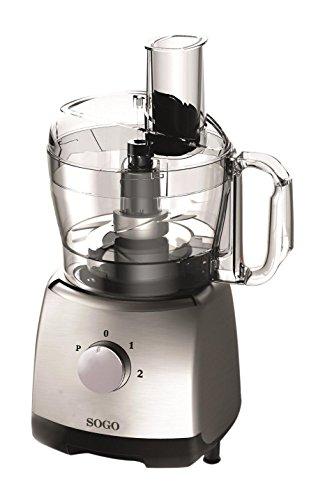 Sogo BAT-SS-5140 Mini robot de cocina, 400 W, 1.2 litros, Plástico, 2 Velocidades, Plata