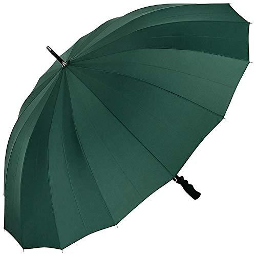 VON LILIENFELD® Umbrella XXL Automatic Large Men Women 2 Persons 16 Segments Stable Cleo Hunter Green...