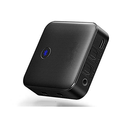 Cife Transmisor Receptor Bluetooth 5.0 HD CSR8675 para Auriculares De TV Adaptador De Audio AUX Bluetooth Óptico De 3,5 Mm