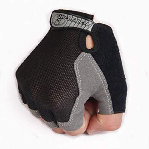 Reiten halbe Fingerhandschuhe für Männer und dünnen atmungs Sonne Beweis Fitness Klettern Frauen offen Finger taktische halbe Finger-Handschuhe Hantel (Butterfly Net Black Thin)