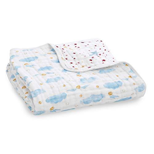 aden + anais Harry Potter Baby Dream Blanket Girl & Boy Metallic Muslin Throw Blanket Lightweight & Breathable, Ideal Newborn, Toddler & Nursery Crib Bedding, Unisex Infant Shower Items, Snitch Dot