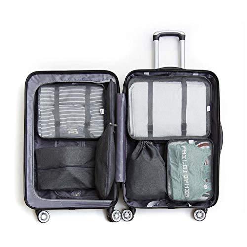 LXRZLS Caja de almacenamiento de equipaje Premium de 7 piezas, bolsa de almacenamiento de catión Oxford para cubos de equipaje comprimido, ideal para equipaje de vacaciones, mochilas, viajes aéreos, l
