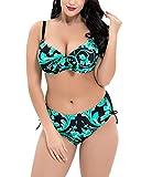 Shaoyao Mujer Bikini Tallas Grandes Set Conjunto De Baño Push Up Verde 56