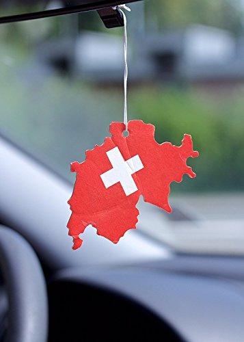 Desodorisant d'air Suisse drapeau Lot de 5 odeur Vainilla