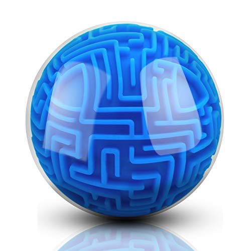 Puzzle Toy 3D Magic Ball Brain Teasers Toy Intelligence Game Gifts for Kids Adults - Hard Challenges Game Tiny Maze Cube Balls