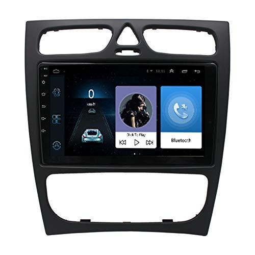 Amimilili Radio De Coche 2 DIN Navigation para Mercedes Benz CLK W209 2007-2012 Multimedia Espejo Enlace Bluetooth Manos Libres SWC + Cámara De Marcha Atrás,4 Cores 4g+WiFi:2+32g