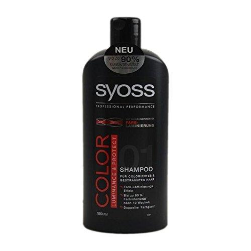 Saint Algue Syoss–Champú para cabellos teñidos, bote de 500ml
