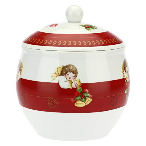THUN ® - Biscottiera in Porcellana Dolce Natale