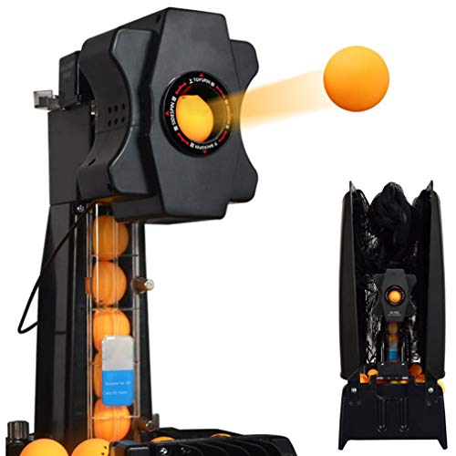 Review Of HAIJIN Table Tennis Robot ping Pong Machine Automatic Launcher with Safety net, 40 + Autom...