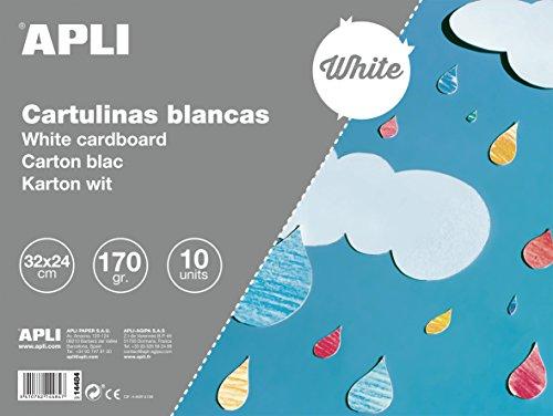 APLI 14484 - Bloc de cartulinas blancas 32 x 24 cm 10 hojas
