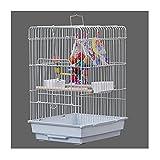 ZHANGJINYISHOP2016 Jaula Jaula de cría de Jaula de pájaros Grande Simple con manijas Cockatiel Jaula de pájaros para pájaros pequeños y medianos para Pinchos Jaula para (Color : B)