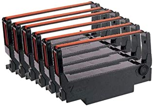 12 Bixolon SRP 270 275 275iiic Black & Red Ribbons - Replaces Epson ERC 30BR Ribbons (12 Ribbons)