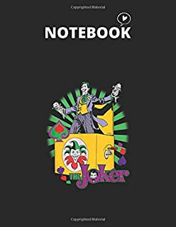 Notebook: Batman The Joker These Fish Are Loaded Notebook 8.5in x 11in x 122 Pages White Paper Blank Journal with Black Co...