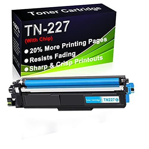 Cartucho de tóner para impresora láser HL-L3210CW HL-L3230CDN HL-L3230CDW HL-L3230CDW (alta capacidad) de repuesto para Brother TN227 (TN-227C)