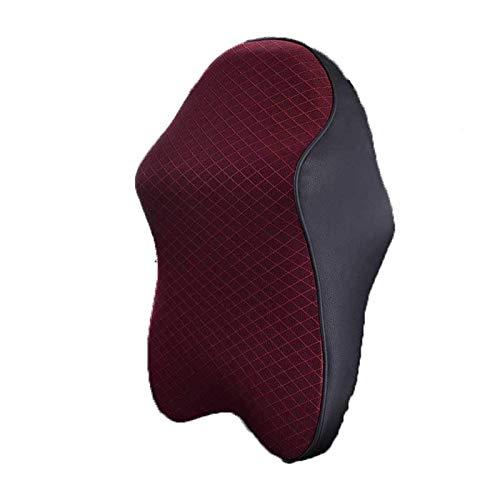 JONJUMP Almohada de cuello de coche ajustable de la cabeza de la restricción de la cabeza 3D espuma de memoria auto reposacabezas almohada de viaje soporte de cuello fundas de asiento
