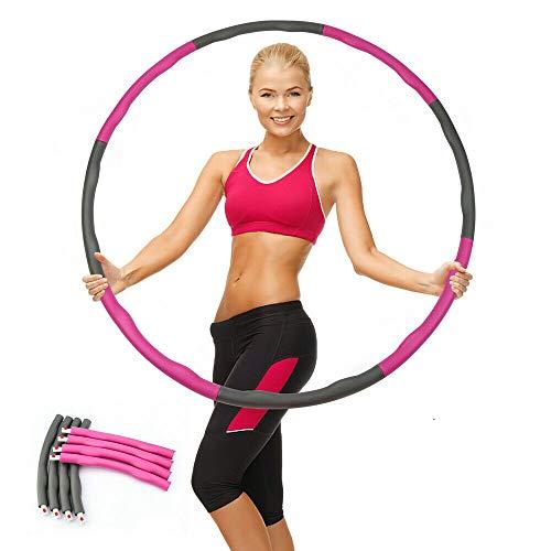 Fitnessreifen, Fitness Reifen für Erwachsene & Kinder zur Gewichtsabnahme und Massage, 6-8 Segmente Abnehmbarer, Hoola-Hoop-Reifen für Fitness/Training/Büro oder Bauchmuskelkonturen